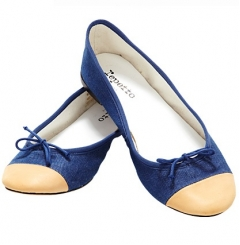 Repetto Flora Denim Ballet Flats