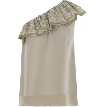 alldressedup Phnom One Shoulder Top Grey