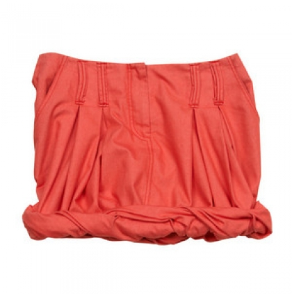 alldressedup Hanoi Cuff Skirt in Coral