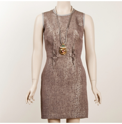 Sophia Kokosalaki Silk Lame Shift Dress