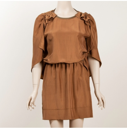 Sophia Kokosalaki Whiskey Silk Dress