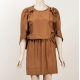 Sophia Kokosalaki Whiskey Silk Dress