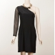 Sara Phillips Silk One Shoulder Dress