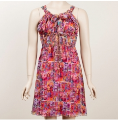 alldressedup Pop Asia Silk Print Dress