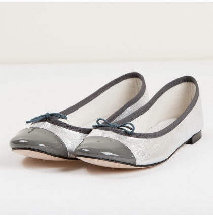 Repetto Flora Silver Ballet Flats