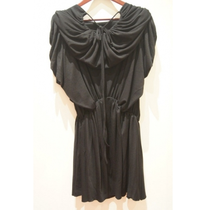 Antonia Goy Ruffly Jersey Dress