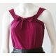 alldressedup Taiwan silk top Plum